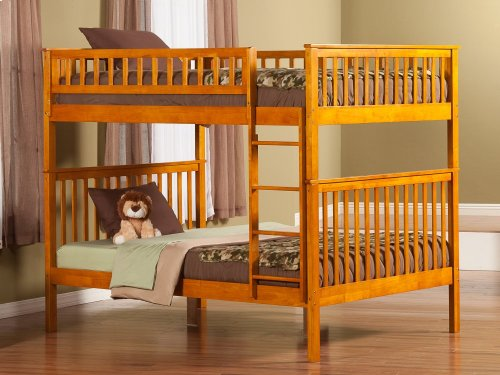 Woodland Bunk Bed Full over Full in Caramel Latte