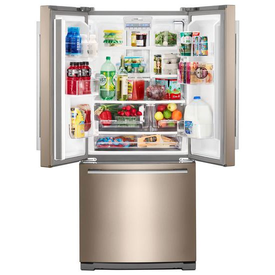 30 Inch Wide Contemporary Handle French Door Refrigerator   20 Cu. Ft.