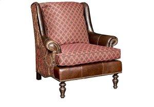 Florida Leather/Fabric Chair, Florida Leather/Fabric Ottoman