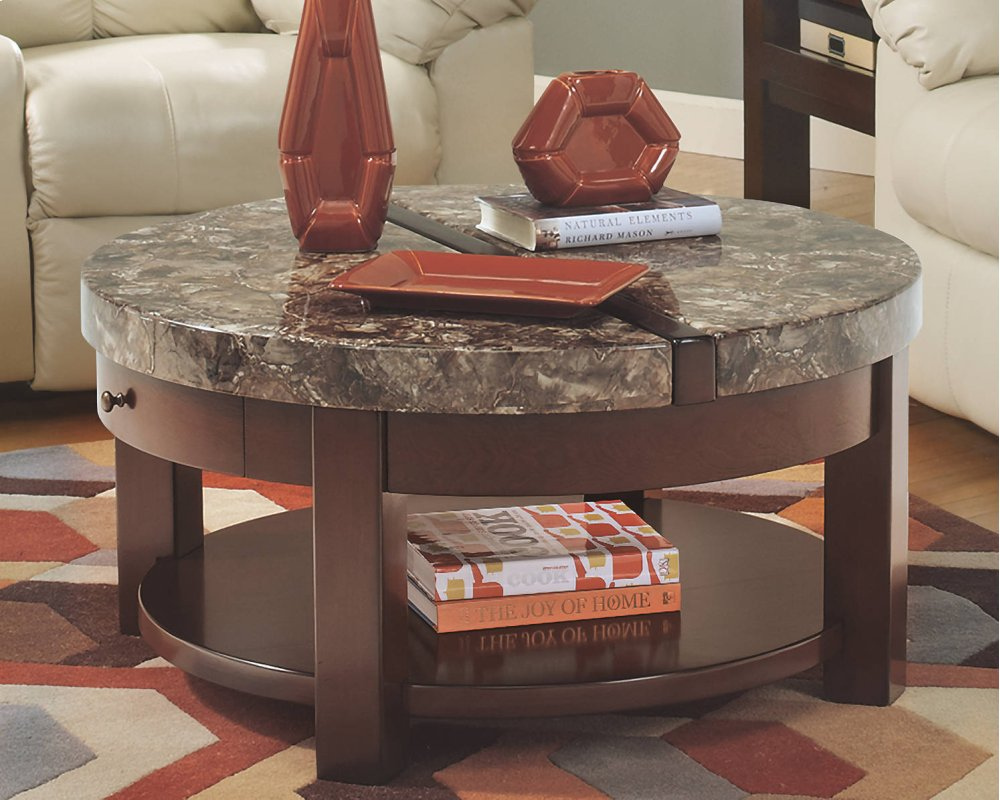 Hidden · Additional Round Lift Top Cocktail Table