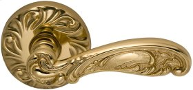 Interior Ornate Lever Latchset in (US3 Polished Brass, Lacquered)