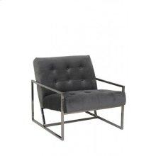 Chair 71x81x70 cm GENEVE velvet grey