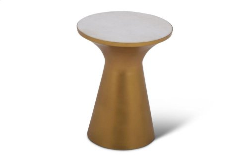 "Jaipur Round Table w/White Marble Inlay-0.75"", 16""x16""x20"""