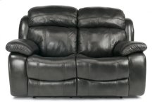 Como Leather Power Reclining Loveseat