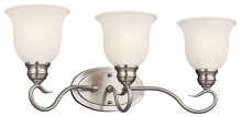 Tanglewood 3 Light Vanity Light Brushed Nickel