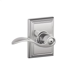 Accent Lever with Addison trim Bed & Bath Lock - Bright Chrome