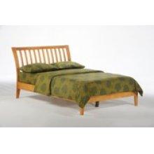 Nutmeg Bed in Medium Oak Finish