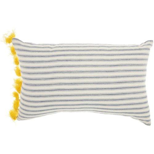 """Life Styles Dr152 Blue White 14"""" X 22"""" Throw Pillows"""