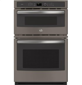 """GE Profile™ Series 27"""" Built-In Combination Convection Microwave/Convection Wall Oven"""