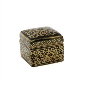 Square Black/gold Jar 5""