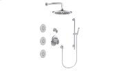 M-Series Full Thermostatic Shower System with Diverter Valve