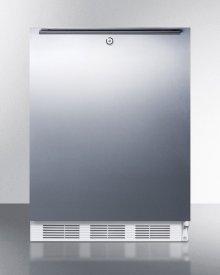 Freestanding ADA Compliant Refrigerator-freezer for General Purpose Use, W/dual Evaporator Cooling, Lock, Ss Door, Horizontal Handle, White Cabinet