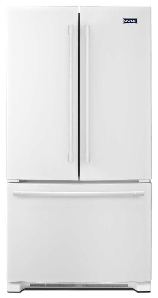 Maytag(r) 36 Inch Wide French Door Refrigerator   25 Cu. Ft.   White