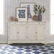 4 Door Accent Cabinet - White
