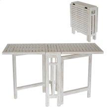 Savannah White Wash Gate Leg Small Folding Dining Table