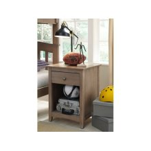 1-Drawer Nightstand in Taupe Gray