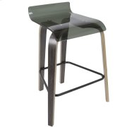 Clarity Counter Stool - Dark Grey / Green Product Image
