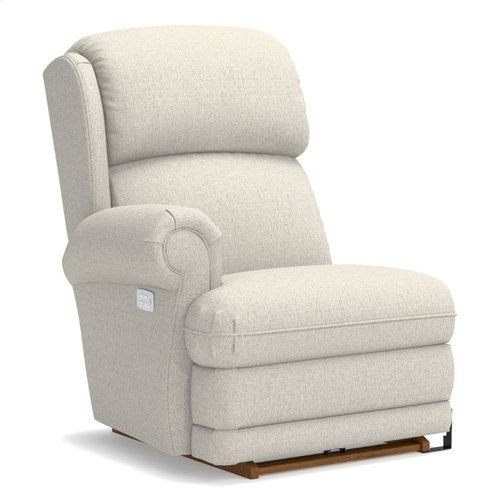 Kirkwood Right-Arm Sitting Power Rocking Recliner w/ Brass Nail Head Trim
