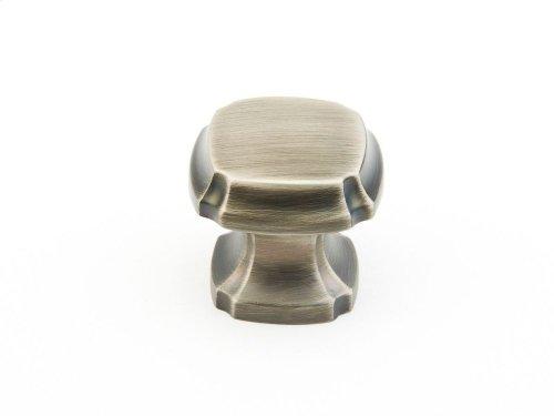 """Empire, Square Knob, 1-3/8"""" diameter, Antique Nickel finish"""