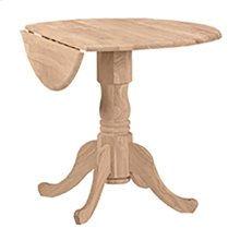 T-36DP Round Dropleaf Pedestal Table