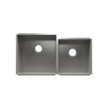 "UrbanEdge® 003640 - undermount stainless steel Kitchen sink , 18"" × 18"" × 10""  15"" × 16"" × 8"""