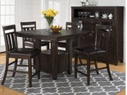 Kona Grove Counter Height Table With Six Slat Back Stools Product Image