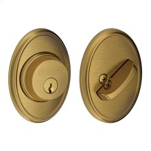Single Cylinder Deadbolt with Wakefield trim - Antique Brass
