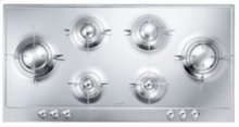 """100CM (approx 39"""") """"Piano Design"""" Gas Cooktop, Polished Stainless Steel*"""
