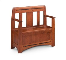 """Aspen Storage Bench, 40"""", with Inlay"""