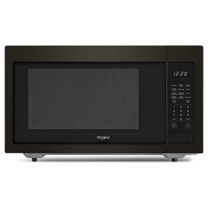 1.6 cu. ft. Countertop Microwave with 1,200-Watt Cooking Power - FINGERPRINT RESISTANT BLACK STAINLESS