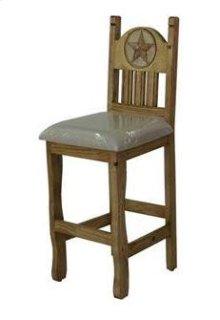 "24"" Barstool W/Cushion Seat and Star"