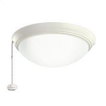 Satin Natural White LED fan fixture SNW