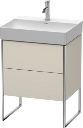 Vanity Unit Floorstanding, Taupe Matt (decor)