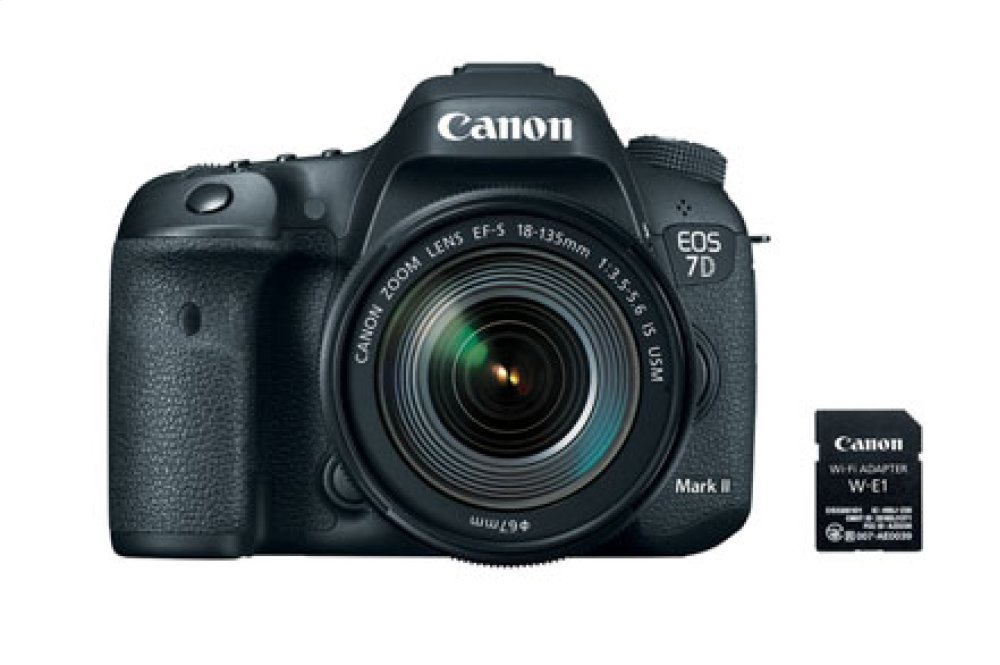 Canon EOS 7D Mark II EF-S 18-135mm f/3.5-5.6 IS USM Wi-Fi Adapter Lens Kit Digital SLR Camera