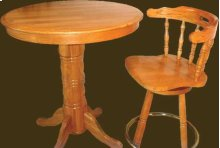 Solid Oak Pub Table