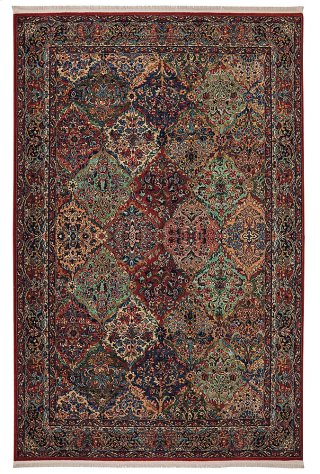 Multicolor Panel Kirman - Rectangle 8ft 8in x 12ft
