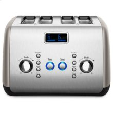4-Slice Toaster with One-Touch Lift/Lower and Digital Display - Cocoa Silver