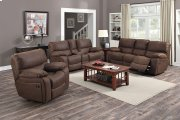 Ramsey Rodeo Brown Leather-Look Reclining Set, M6016 Product Image
