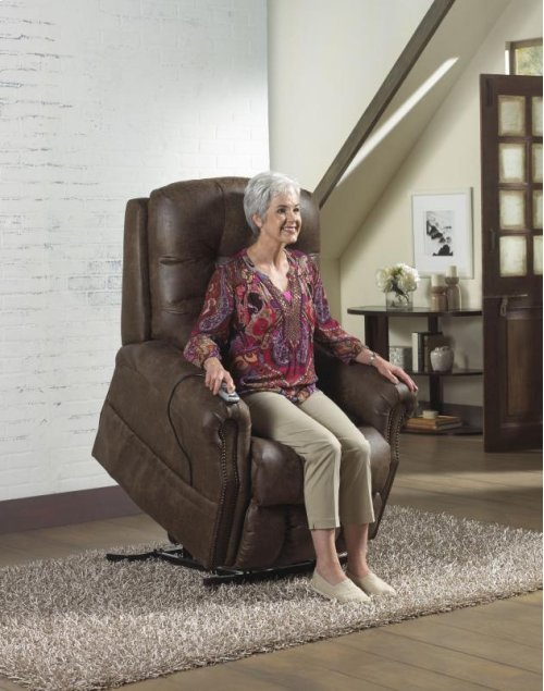 Pwr Lift Lay Flat Recliner w/ Heat & Massage