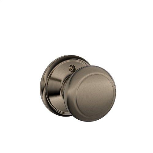 Andover Knob Non-turning Lock - Antique Pewter