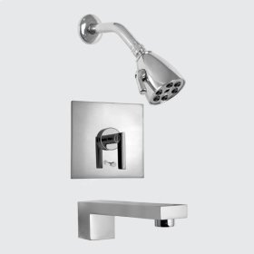 2300 Series Pressure Balanced Tub and Shower Set with Sitxx handle (available as trim only)