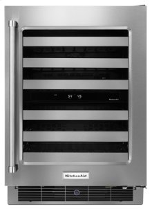 """24"""" Stainless Steel Wine Cellar with Metal-Front Racks"""
