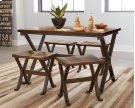 5 pc. Dining Set w/ Wood Top Product Image