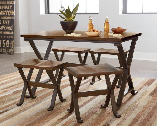 Leg Table Wood Top