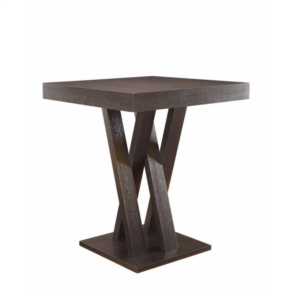 Mannes Contemporary Cappuccino Counter-height Table