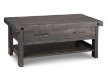 Rafters Coffee Table w/ 2 Drawers w/Shelf