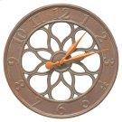 "Medallion 18"" Indoor Outdoor Wall Clock - Copper Vedigris Product Image"