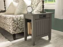 Nantucket Chair Side Table with Charger Atlantic Grey