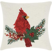 """Home for the Holiday Yx021 Multicolor 18"""" X 18"""" Throw Pillows"""
