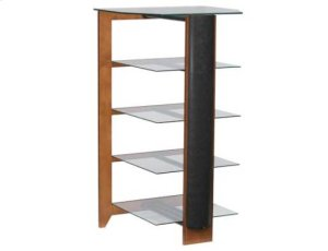 Cherry Audio Stand Contemporary design and solid construction come together to create strength and beauty